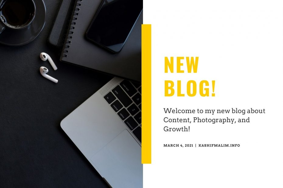New Blog About Content, Photography, Growth!